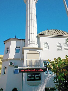Moschee mit LED-Suren